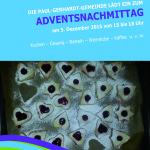 Adventsnachmittag am 05.12.