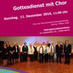 Gottesdienst mit Chor 11.12.