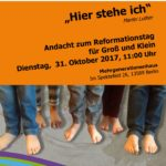 Andacht Reformationstag 31.10.
