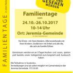 Regionale Familientage 24.-26.10.