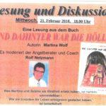Lesung und Diskussion am 21.02.