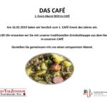 16.02. Grünkohlsuppe im CAFÉ