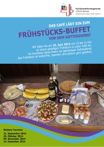 Plakat Frühstück